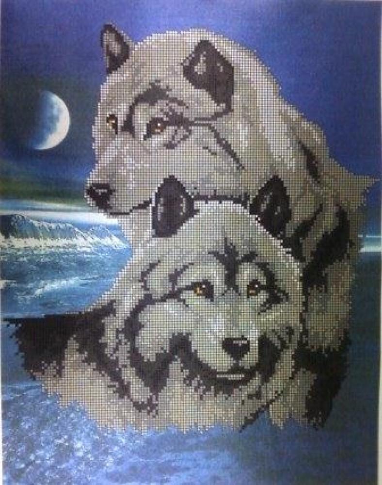 схема вышивки волк 2