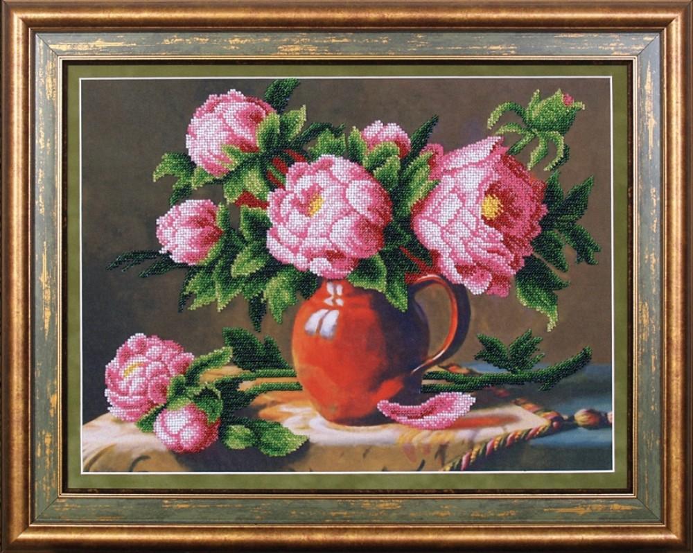 Вышивка розовые картины