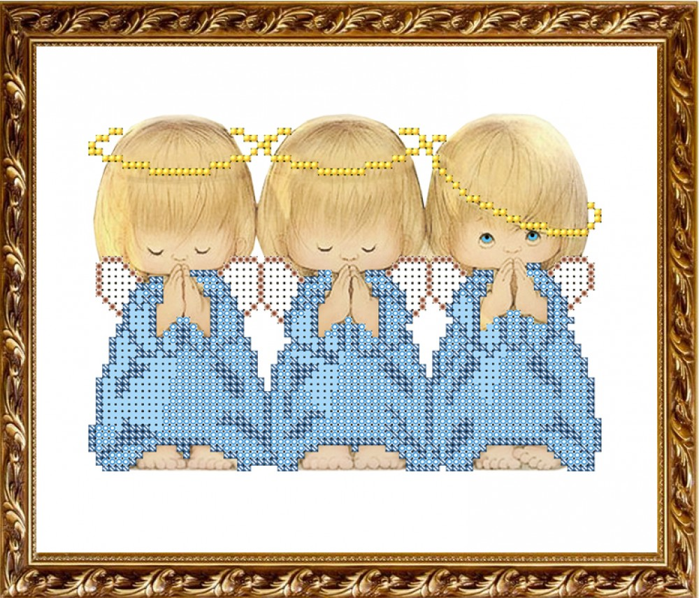 Рисунок для вышивки ангелы