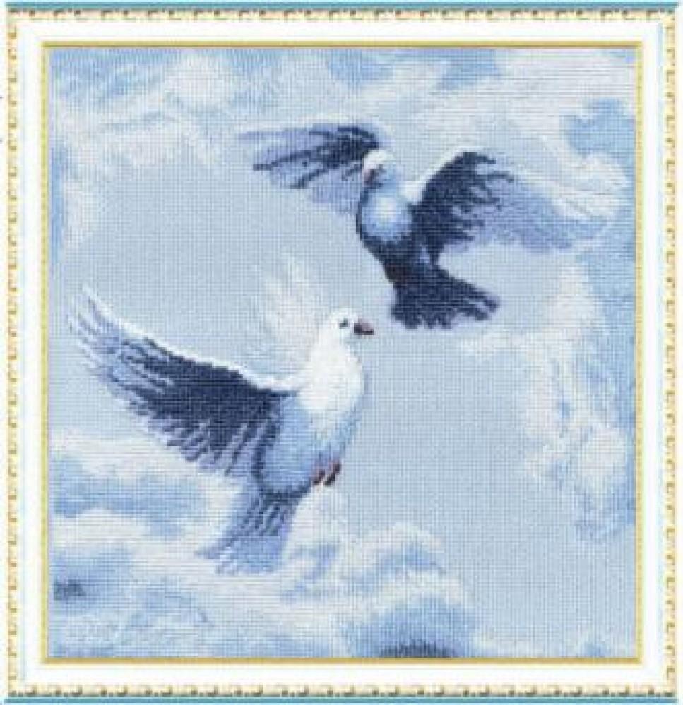 Голубь мира схема вышивки 10