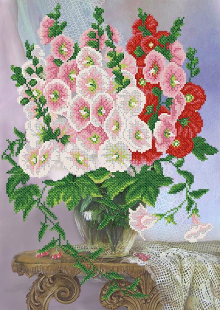 Рисунок на ткани бисером
