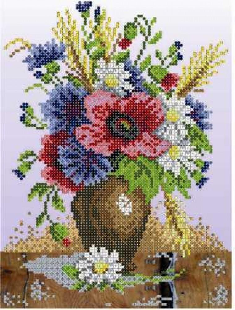 Рисунки для ткани с цветами из вышивки