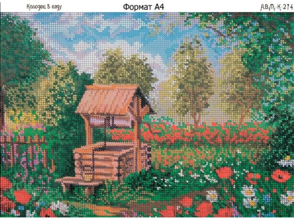 схема вышивки сказочного весеннего леса