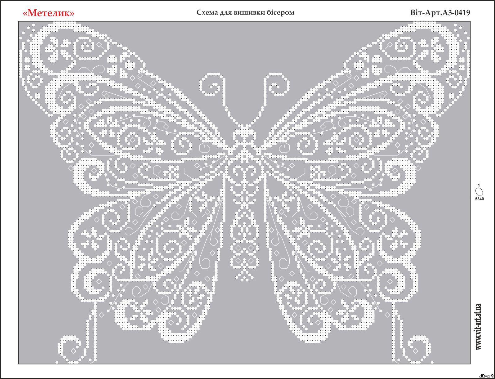 схема и рисунки бабочек