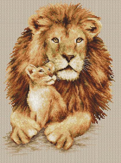 Наборы для вышивания крестом лев