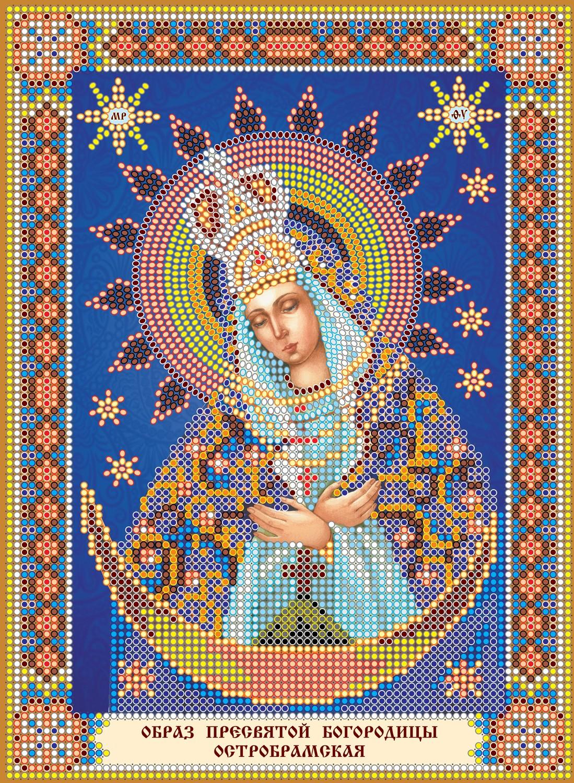 схема вышивки крестом икона богородица