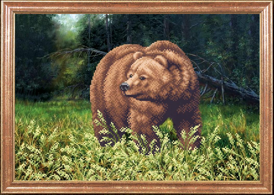 схема для вышивки крестом белые медведи