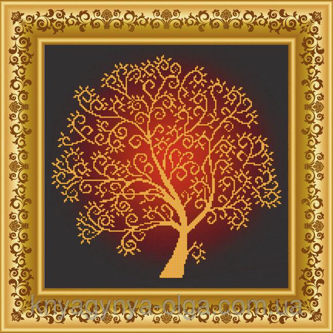 Вышивание деревьев бисером