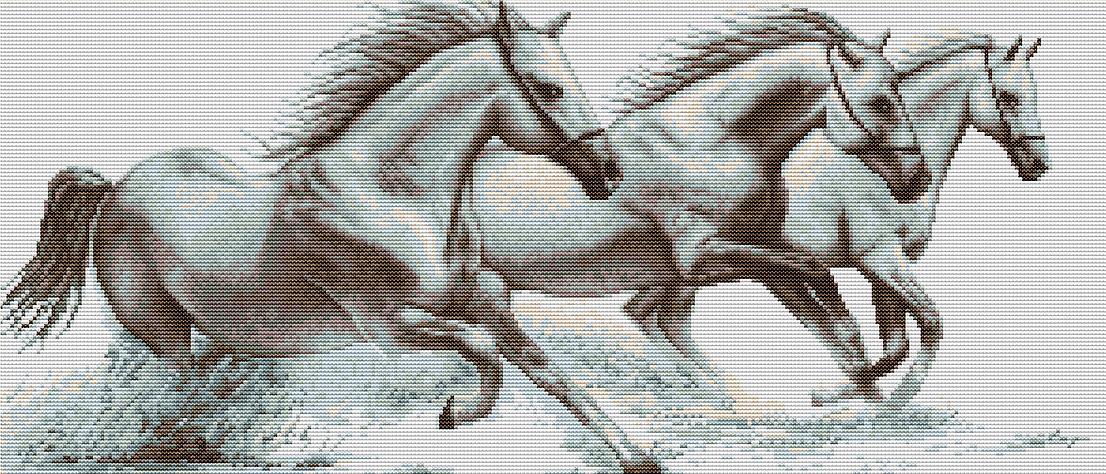 Вышивка крестом лошадь большие