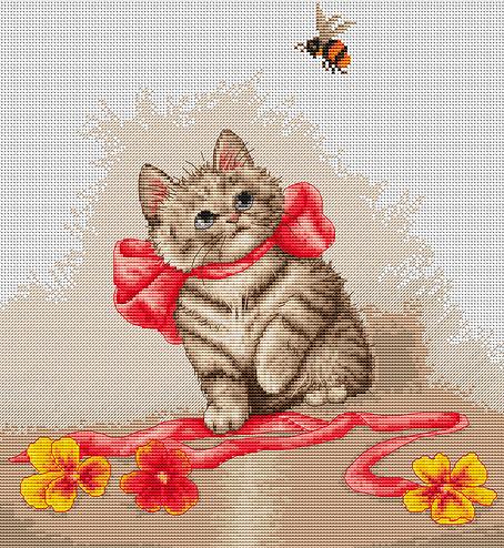 Наборы для вышивки крестом котята
