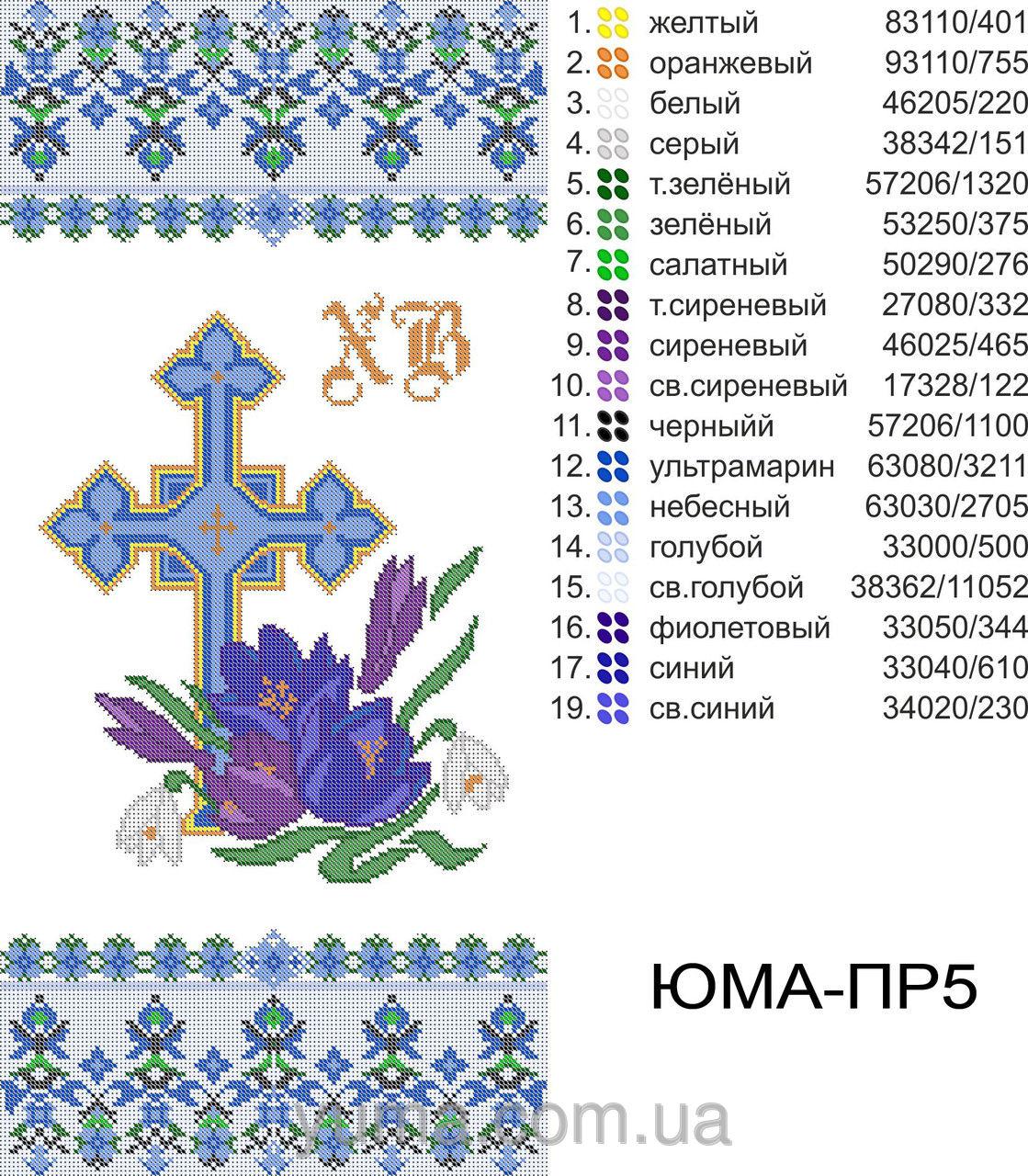 схема вышивки крестом корзинки на пасху