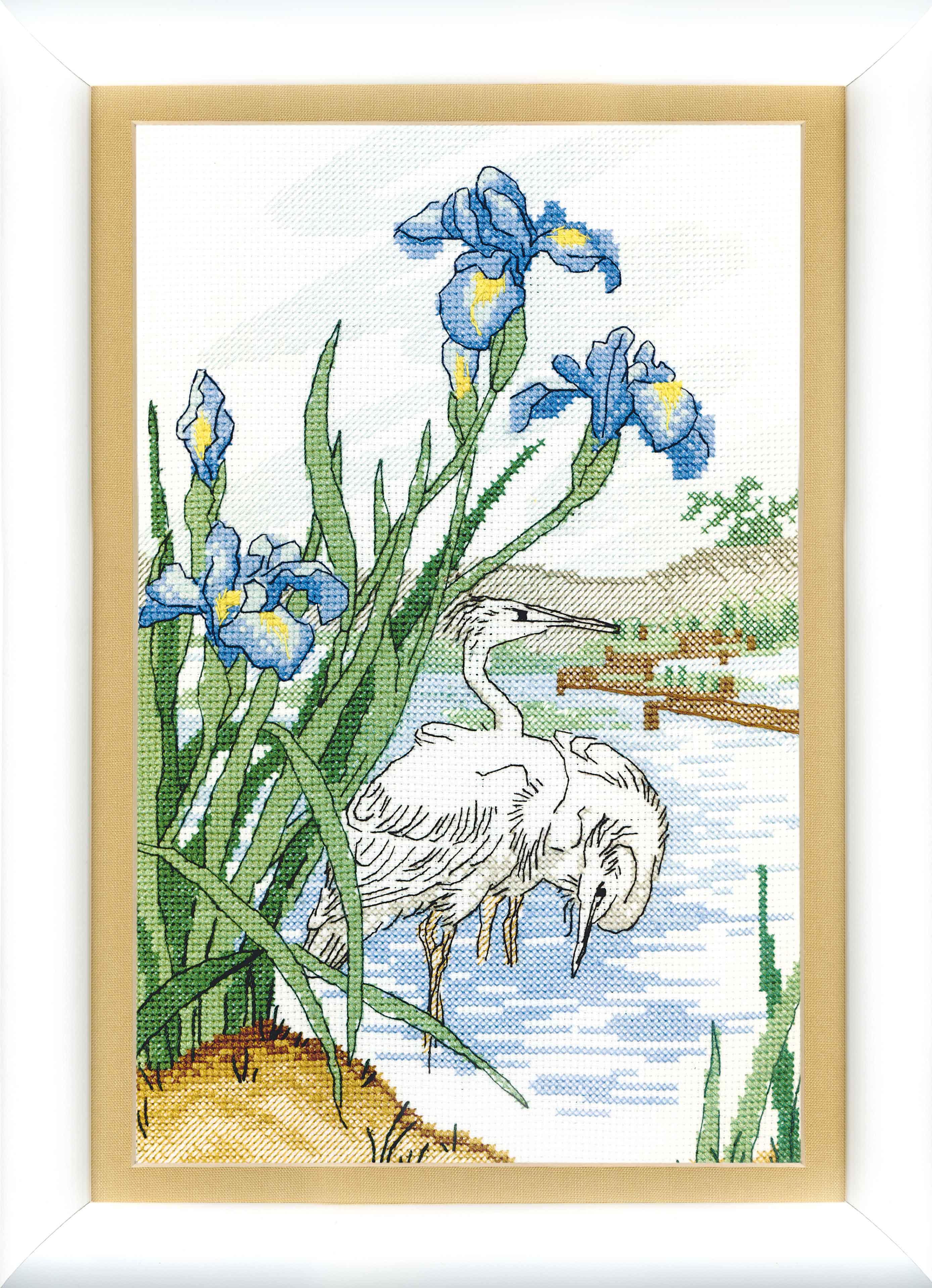 вышивка схема животные лебеди
