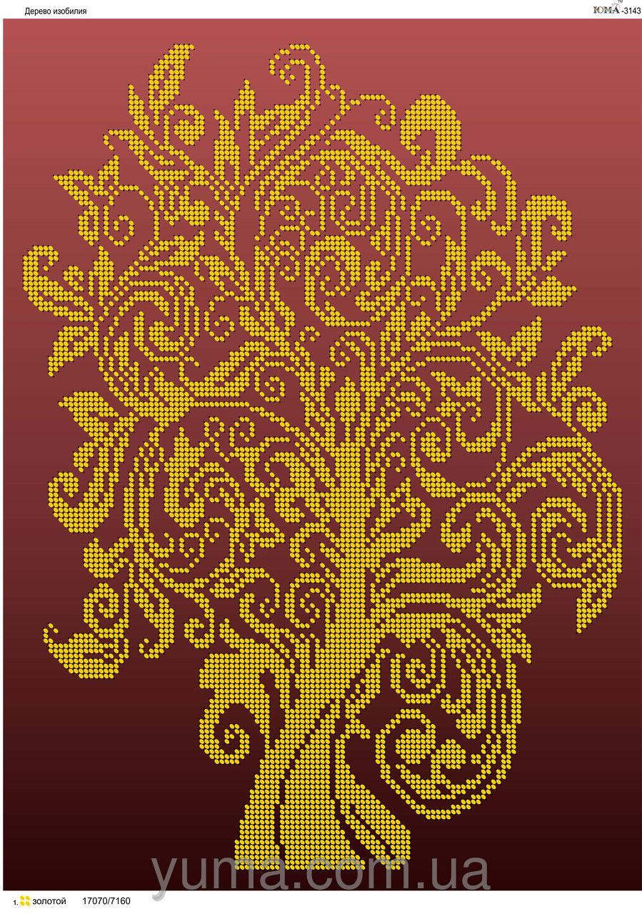схема з бісеру дерево