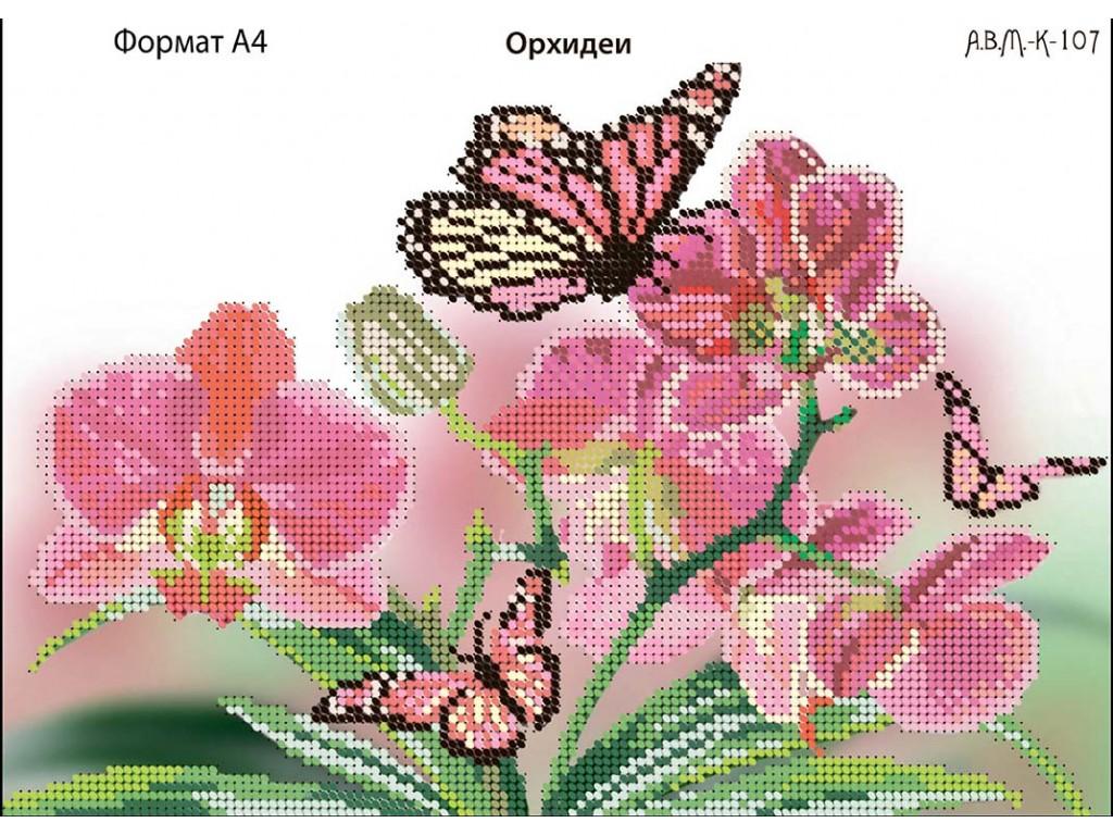 Схема вышивка бисер орхидея 967