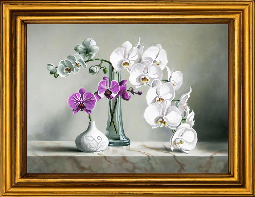 Орхидеи. вышивка бисером