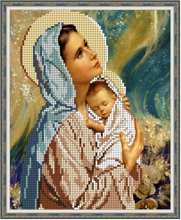 Вышивка крестом мария с младенцем 19