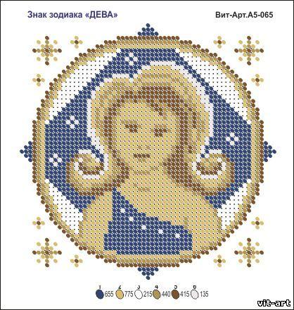 Знак зодиака дева вышивка