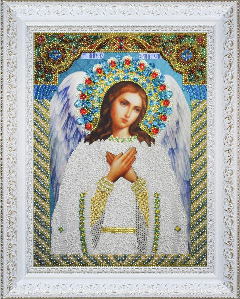 Ангел-хранитель икона вышивка