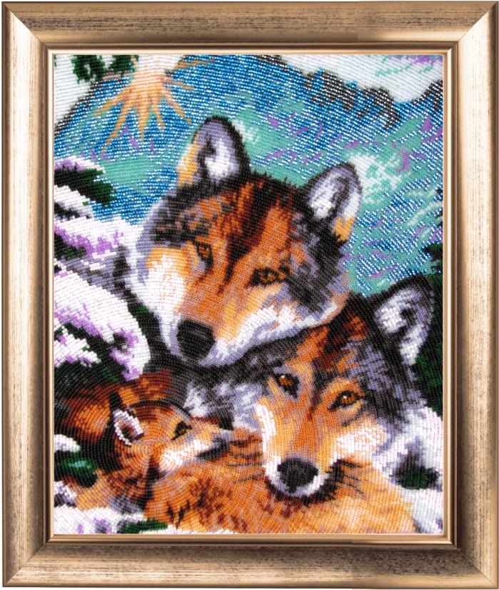 Волки вышивки бисером 79
