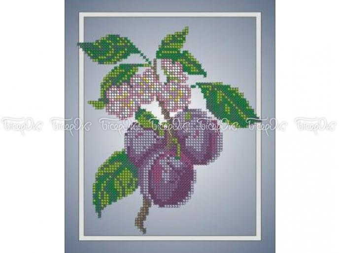 Виноград схема для вышивания
