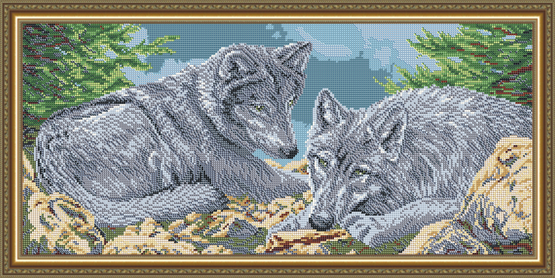 Волки вышивка бисером схемы 73