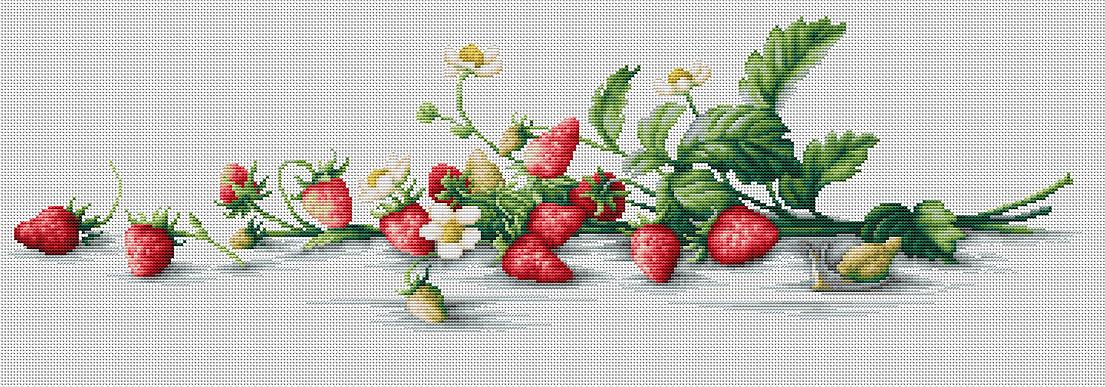 Вышивка фрукты ягоды 42