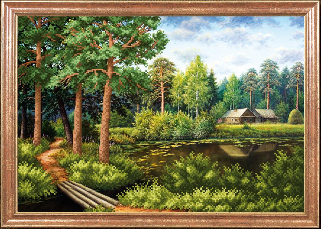 Схема вышивки утро в сосновом лесу i 31