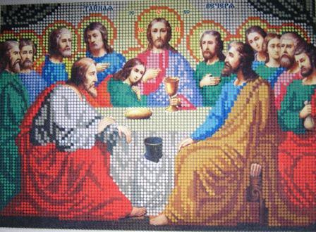 Вышивка крестом схемы тайна вечери
