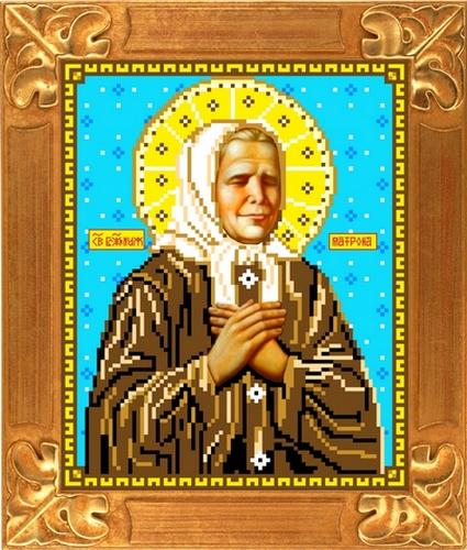 Вышивка крестом иконы матрона московская 23
