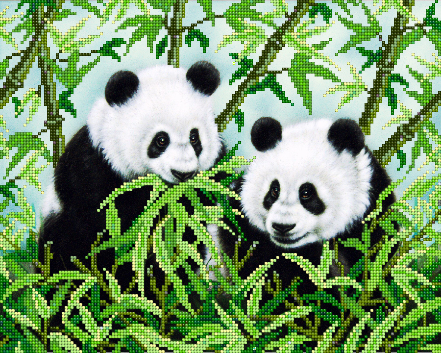 Купить вышивку панды