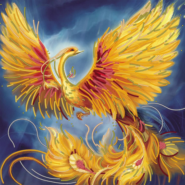феникс из бисера схема