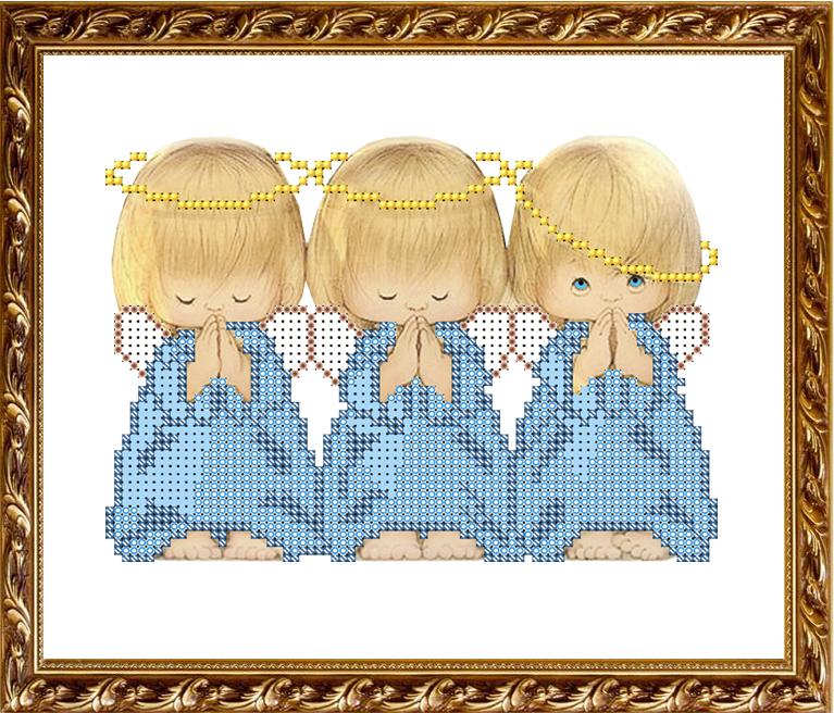 Рисунок ангелочка для вышивки