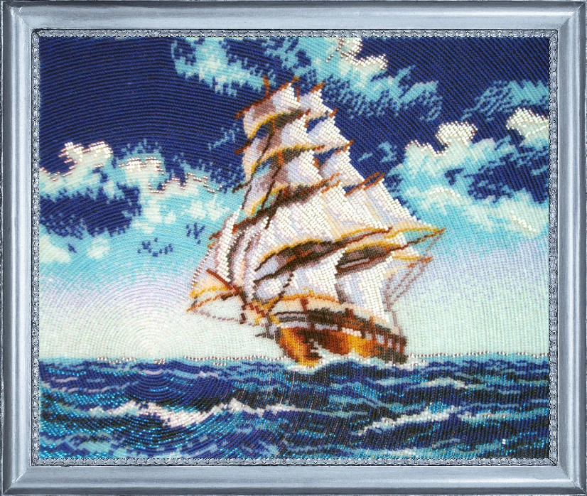Вышивка бисером корабль схемы 64