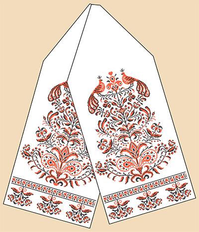 Как обработать края свадебного рушника