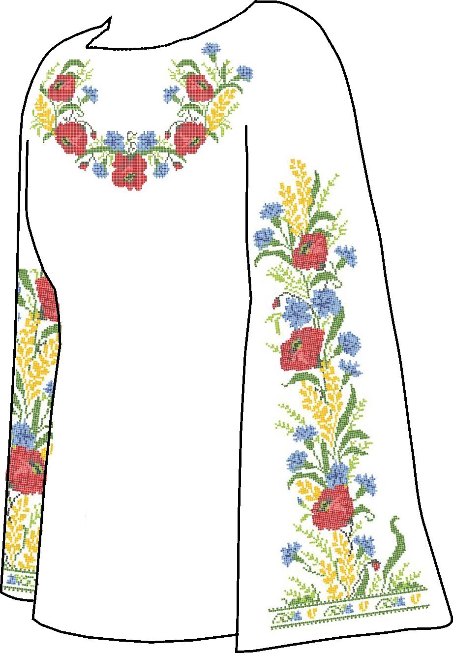 Вышиванка (украинская рубашка) - Схемы и наборы