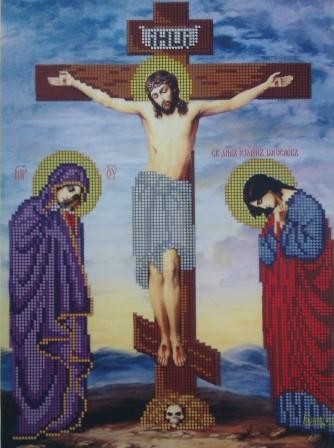 Вышивка крестом схема распятие христа 90