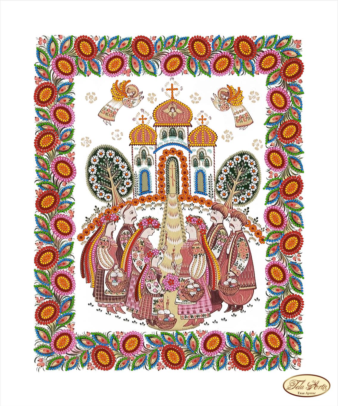 схема вишивки бісером христос воскрес