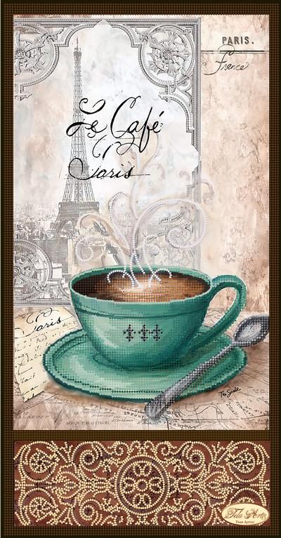 Кофе в париже вышивка
