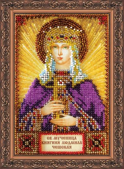 Икона святой людмилы вышивка бисером